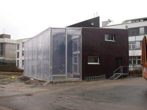 Gebäudeheizung mit Feuchtluftsolarkollektor